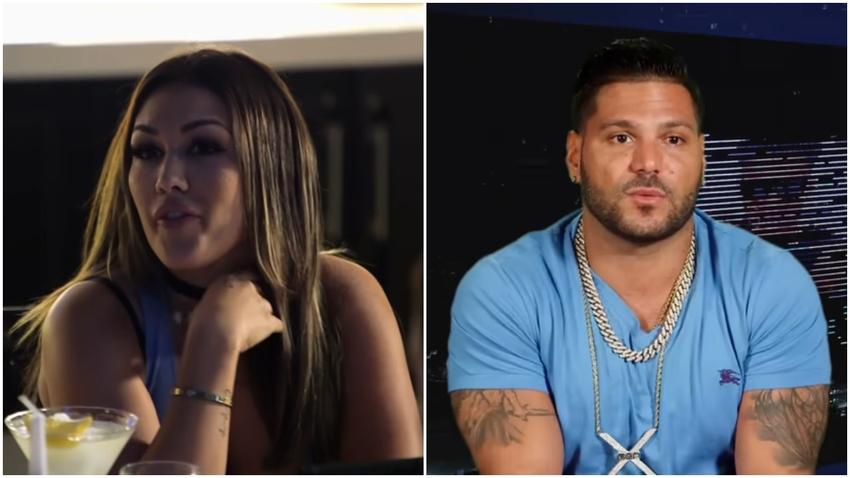 Jen Harley and Ronnie Magro during an episode of Jersey Shore