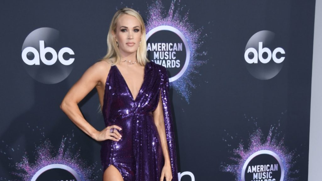 Carrie Underwood at the AMAs.