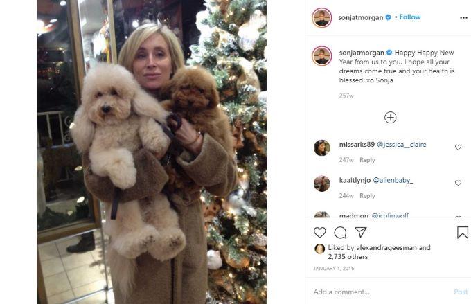RHONY star Sonja Morgan celebrating New Years