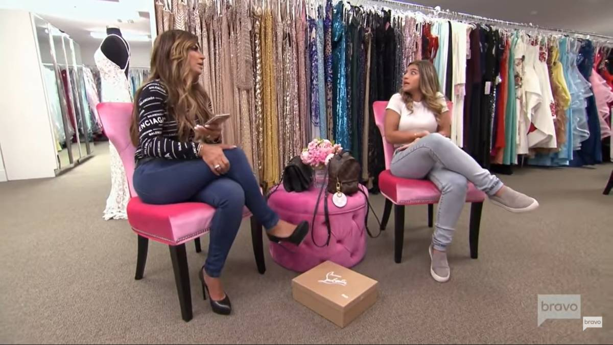 Teresa and Gia Giudice dress shop while filming for RHONJ.