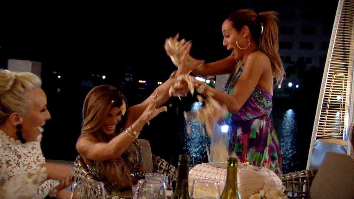Teresa Giudice and Melissa Gorga have a great cake fight and Ziggy's nerves