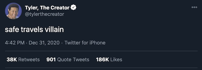 tyler the creator tweet mf doom death