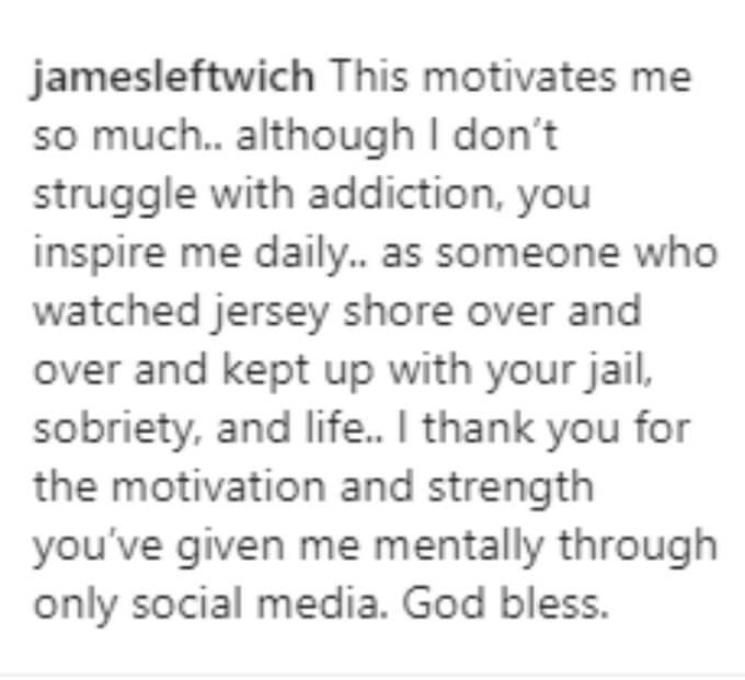 A fan thanks Mike for his motivation