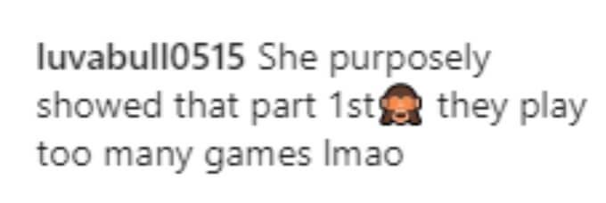 A fan thinks Kail showed the screenshot on purpose