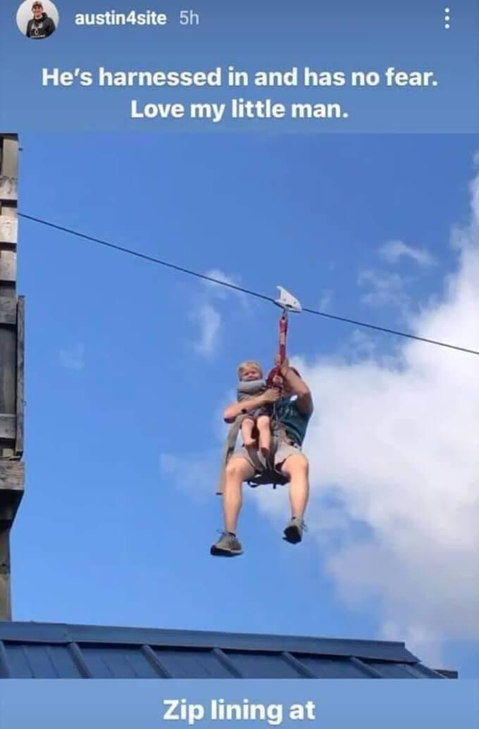 Austin and Gideon on zipline