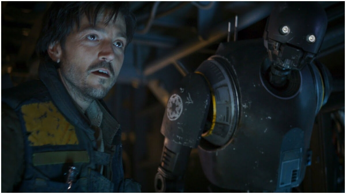 Diego Luna as Cassian Andor in Rogue One: A Star Wars Story