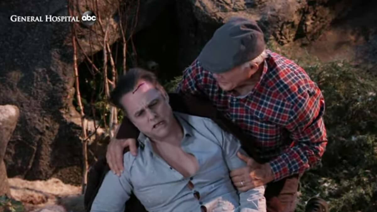 Maurice Benard and Max Gail as Sonny and Mike.