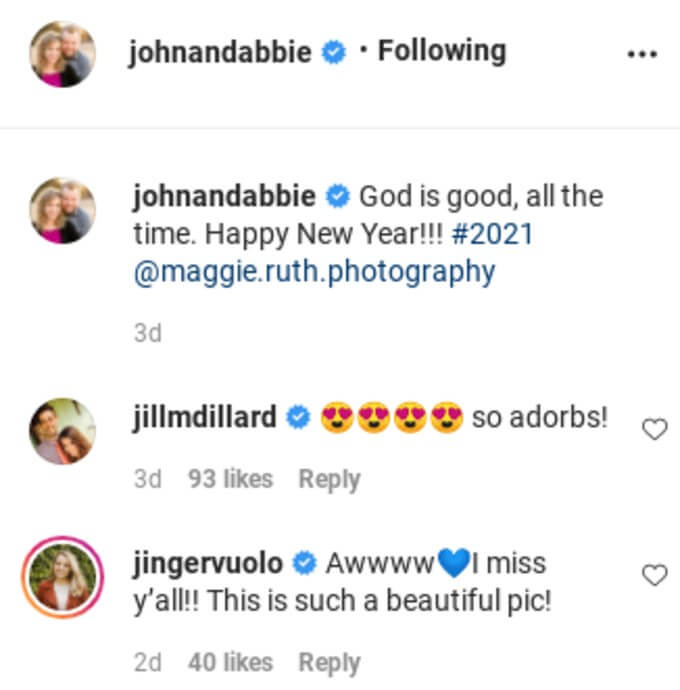 Comments from Abbie's IG post.
