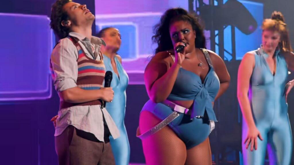 Harry Styles and Lizzo perform together