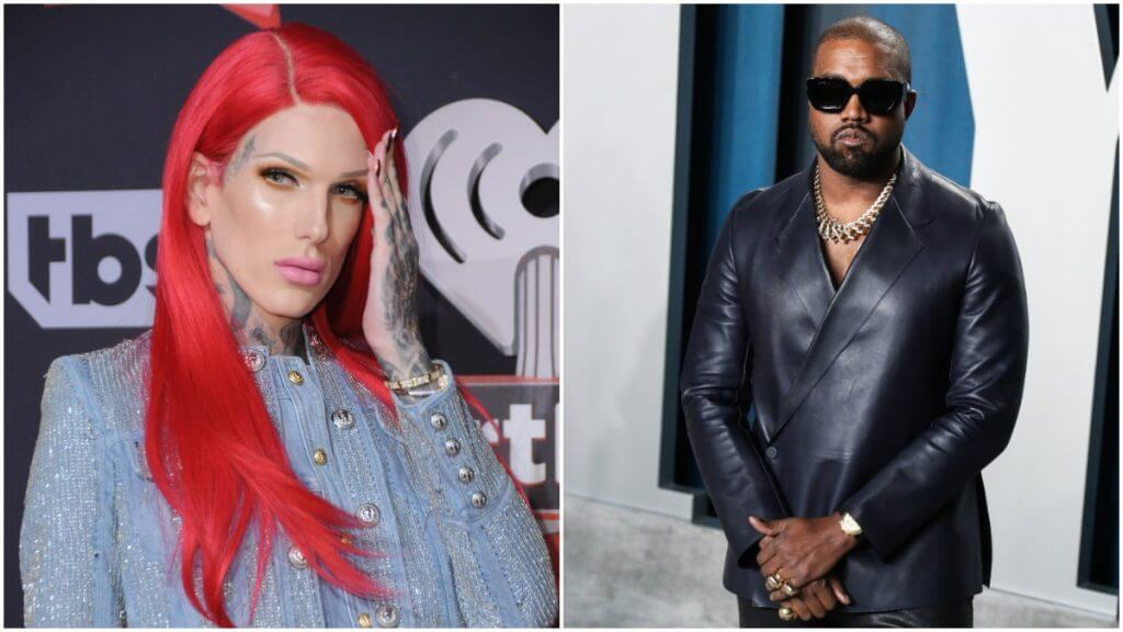 Jeffree Star and Kanye West on the red carpet