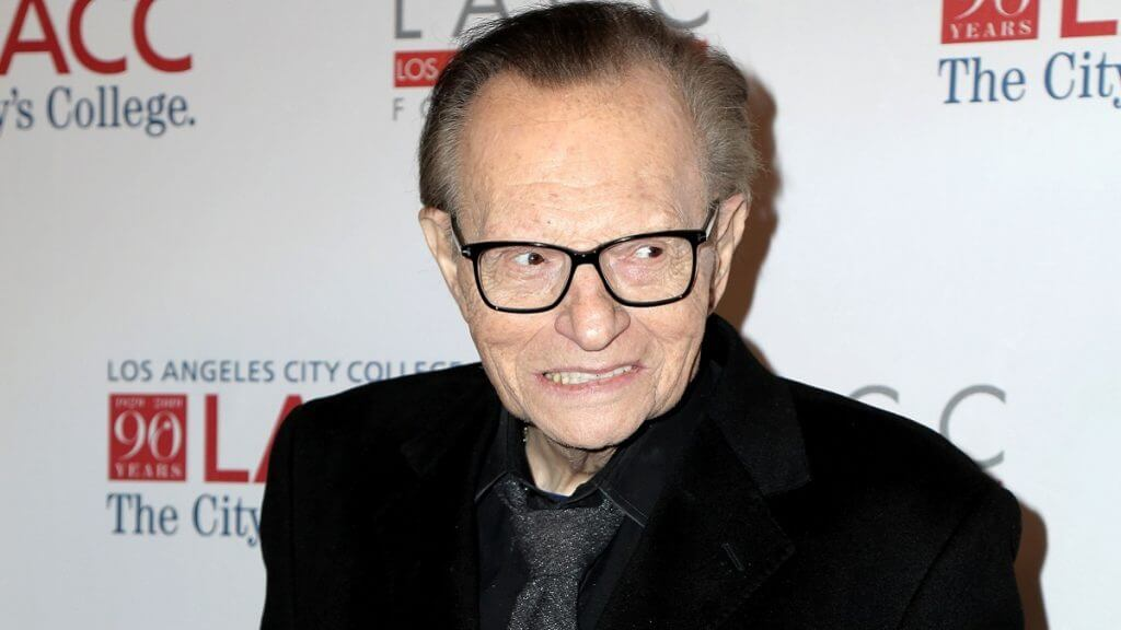 Veteran talk show host Larry King