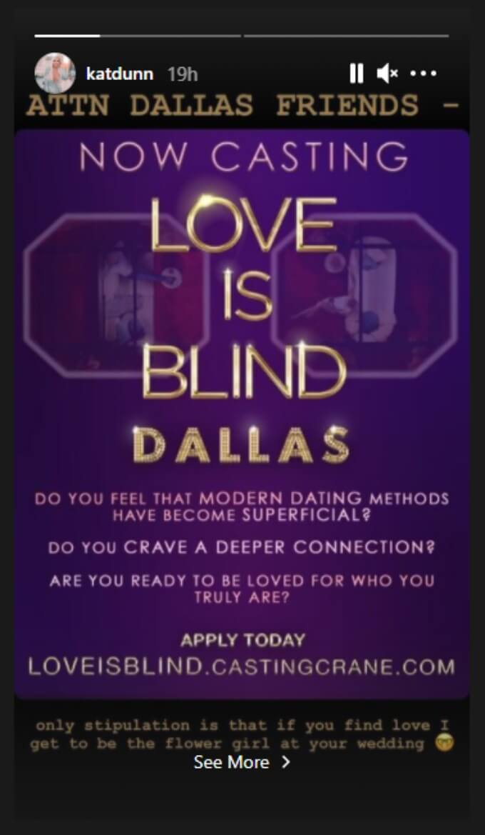 Love is Blind put out a casting call for Dallas.