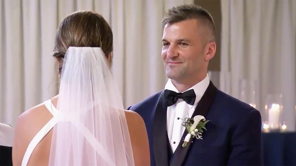 MAFS Season 12 Jacob looking at Haley funny on wedding day