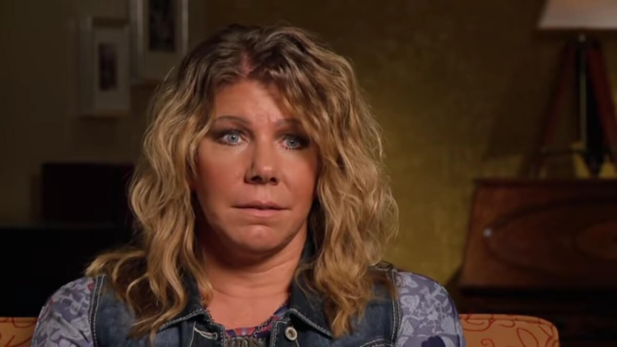 Meri Brown in a Sister Wives confessional.