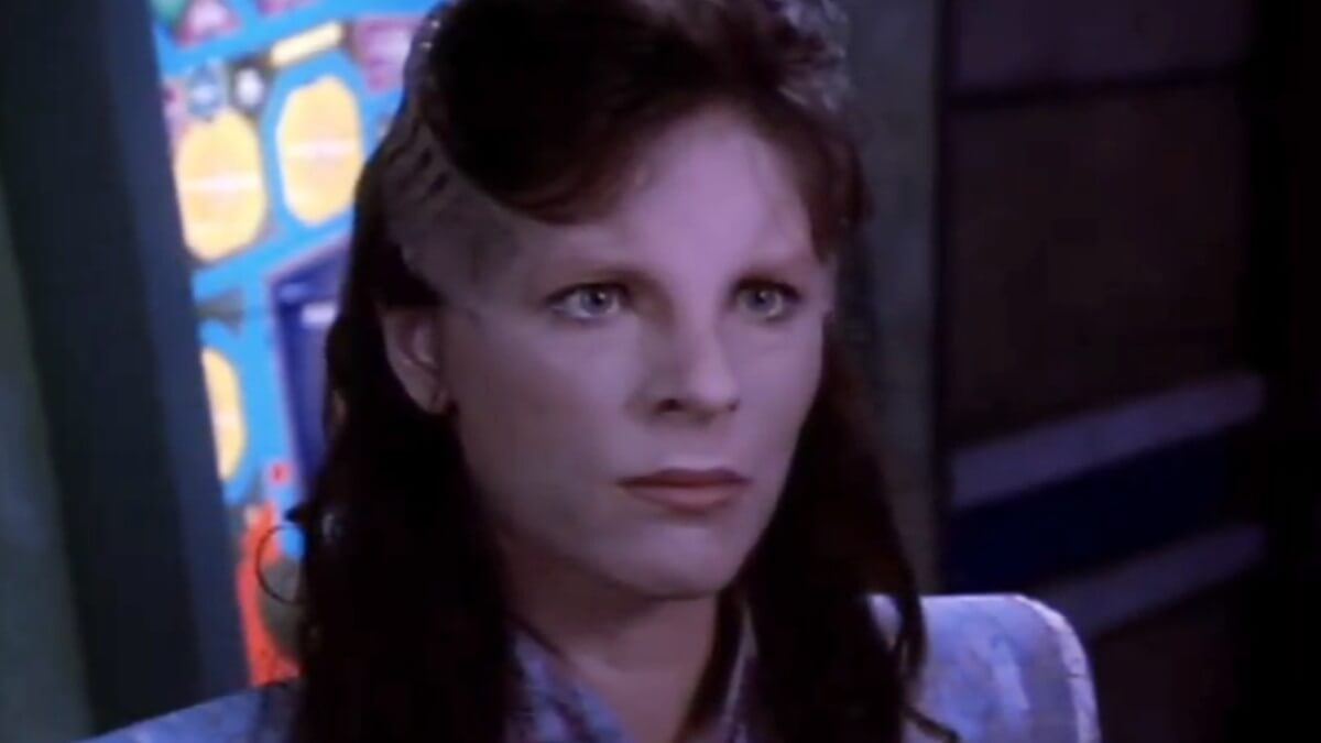 Mira Furlan as Delenn on Babylon 5
