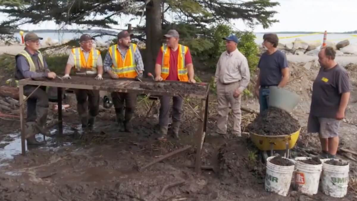 Oak Island team discusses the stone roadway