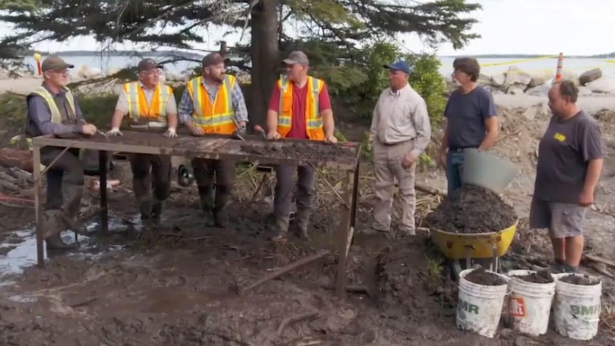 Oak Island team discusses the stone roadway