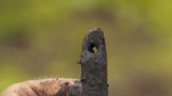 One of Gary's finds on Oak Island