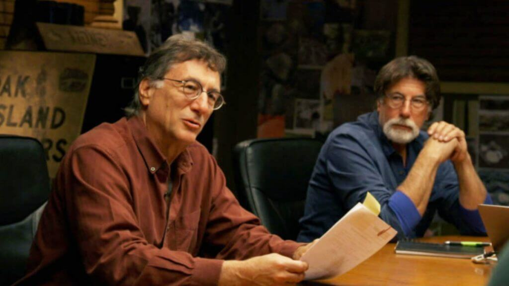 Rick and Marty Lagina in the War Room on Oak Island