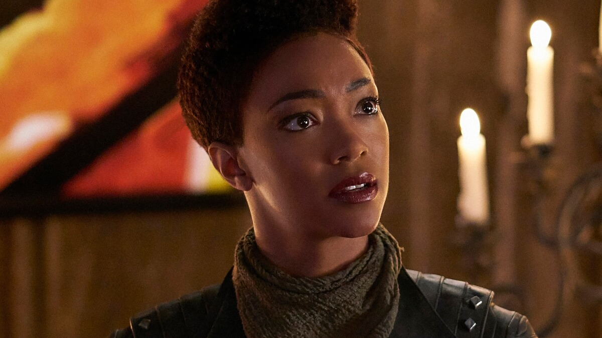 Sonequa Martin-Green plays Captain Michael Burnham on Star Trek Discovery