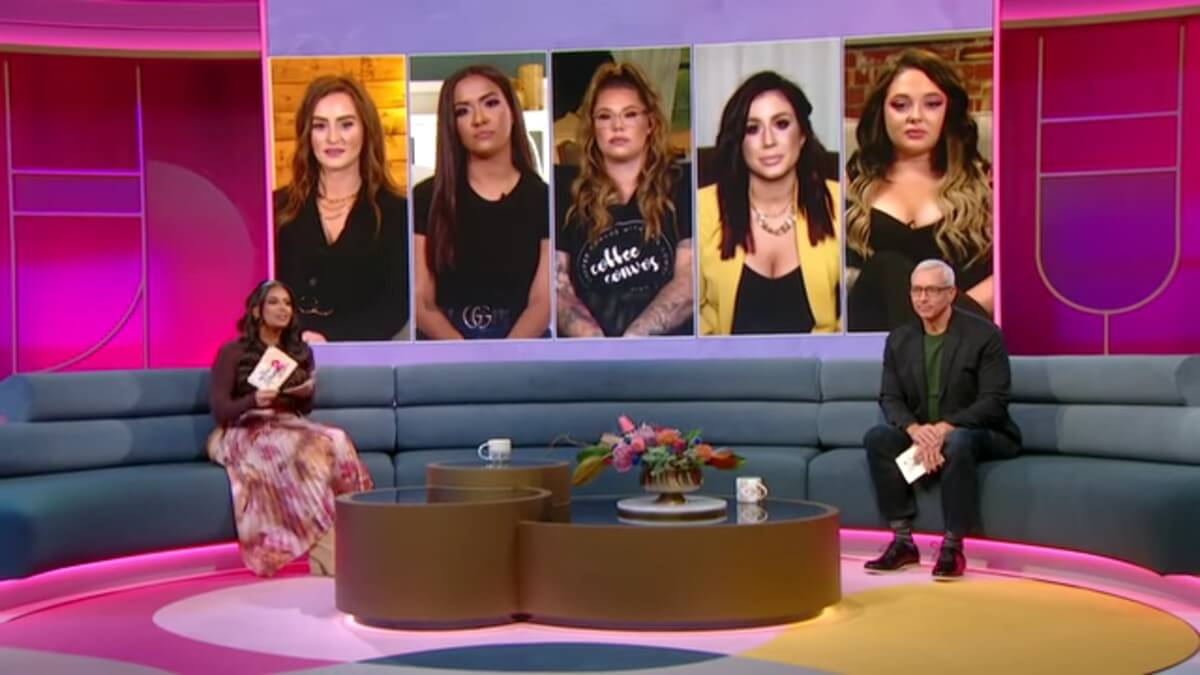 The cast of Teen Mom 2 at the reunion.