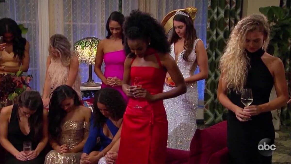 The Bachelor women praying