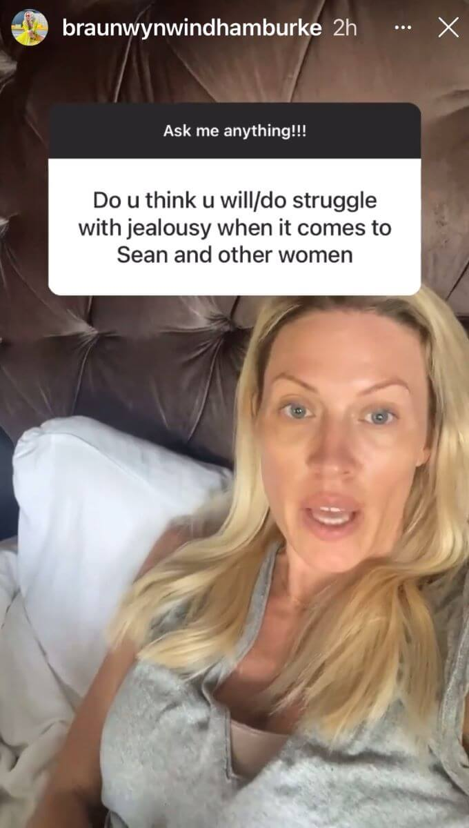 Screenshot of Braunwyn's Instagram Stories
