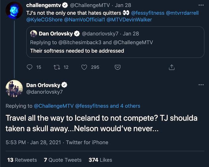 dan orlovsky replies on challenge double agents tweet