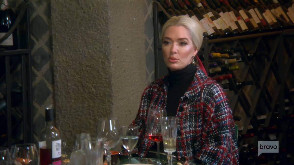 Erika Jayne films for RHOBH while wine tasting.
