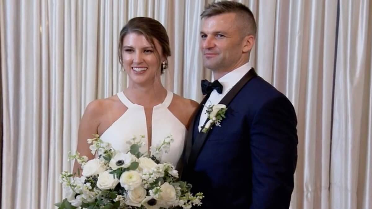 Jacob and Haley tie the know on Married at First Sight.