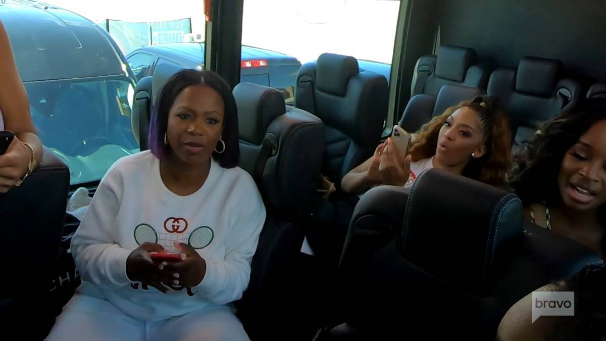 Kandi Burruss reveals whether she's bothered by Kenya Moore's decision to take a private jet.