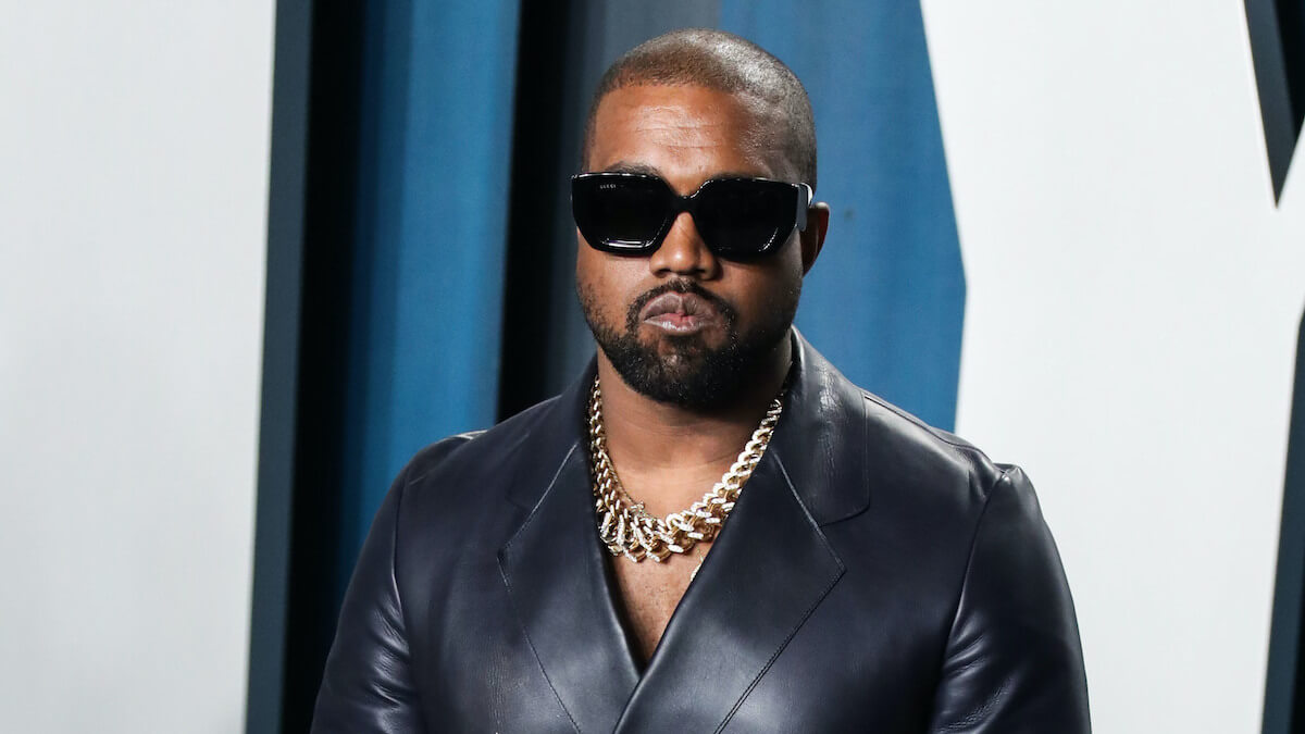 kanye west at 2020 vanity fair oscar party