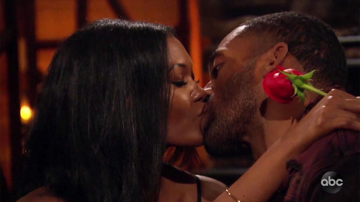 The Bachelor Matt James kissing Lauren