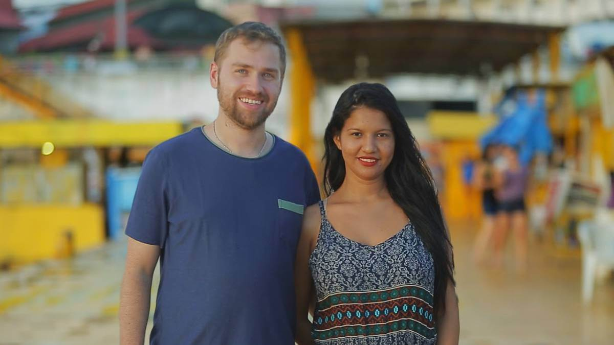 Paul and Karine film for 90 Day Fiance.