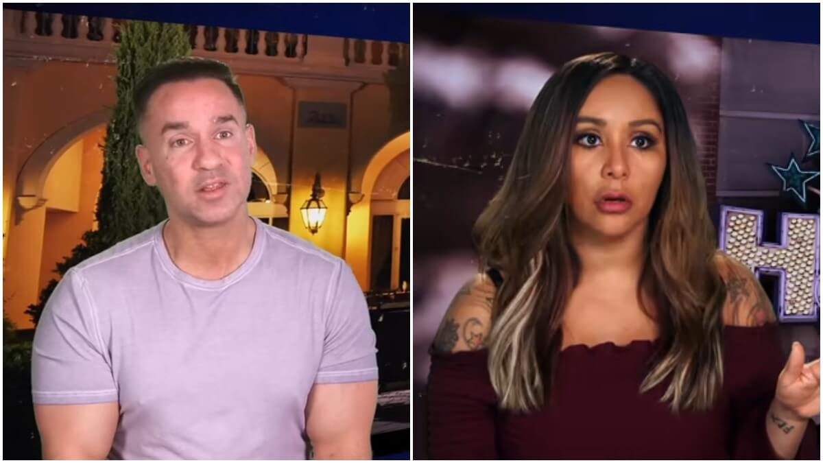 """Mike Sorrentino and Nicole """"Snooki"""" Polizzi on an episode of Jersey Shore Family Vacation"""