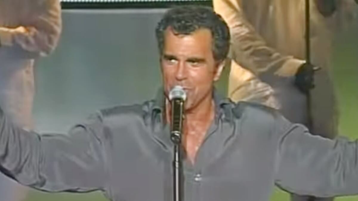 Carman performs on stage