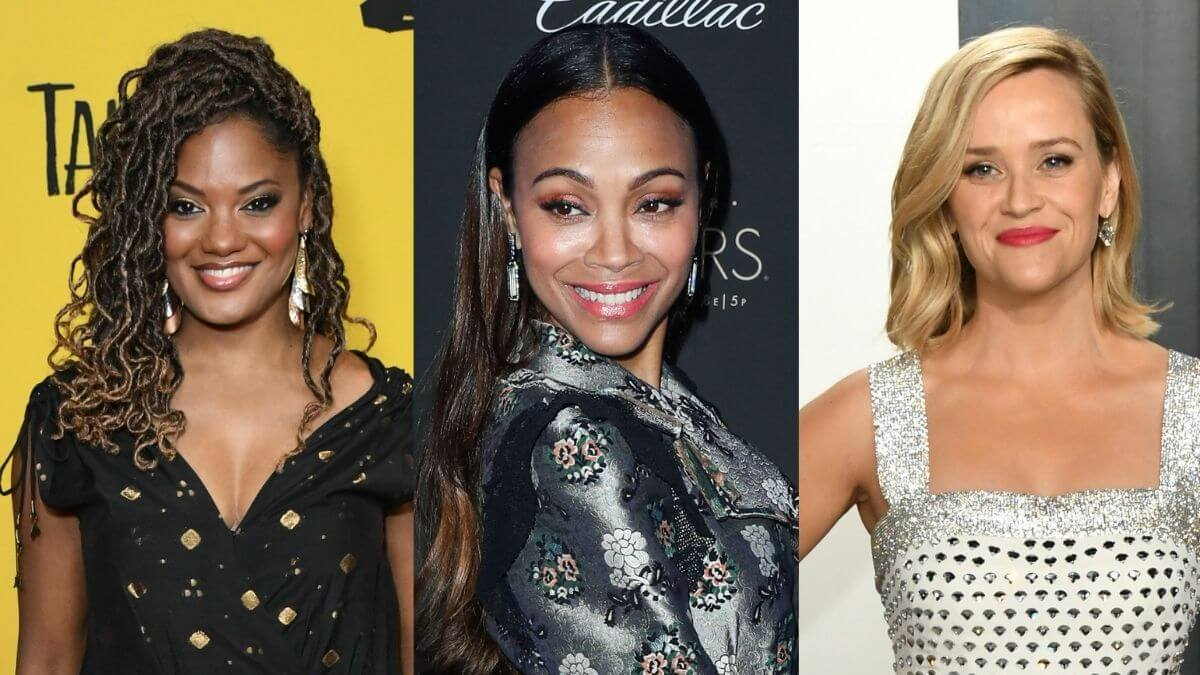 Pictures of Nzingha Stewart, Reese Witherspoon and Zoe Saldana.