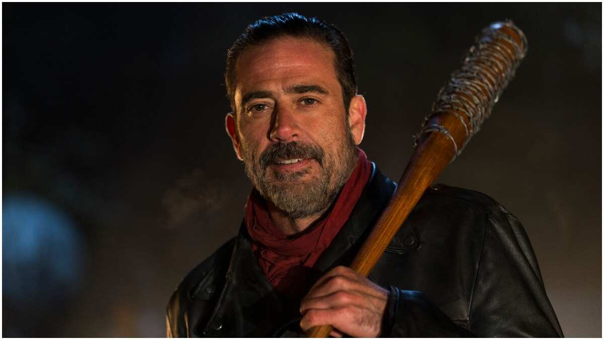 Jeffrey Dean Morgan stars as Negan, as seen in Episode 16 of AMC's The Walking Dead Season 6