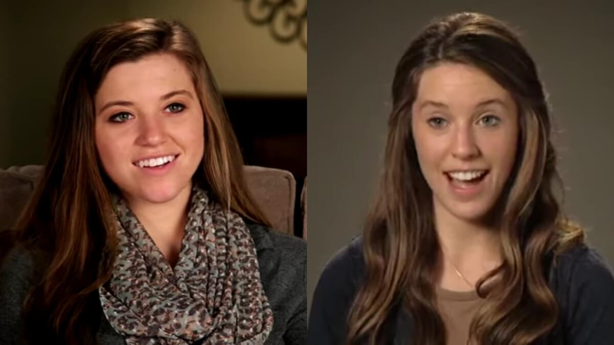 Joy-Anna and Jill Duggar in confessionals.