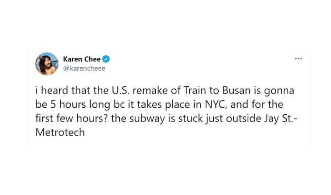 Screenshot of Karen Chee's tweet.
