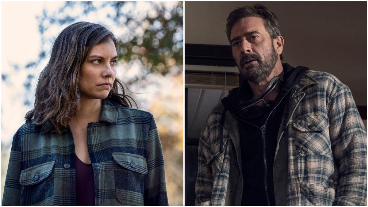 Lauren Cohan as Maggie and Jeffrey Dean Morgan as Negan, as seen in Season 10C of AMC's The Walking Dead