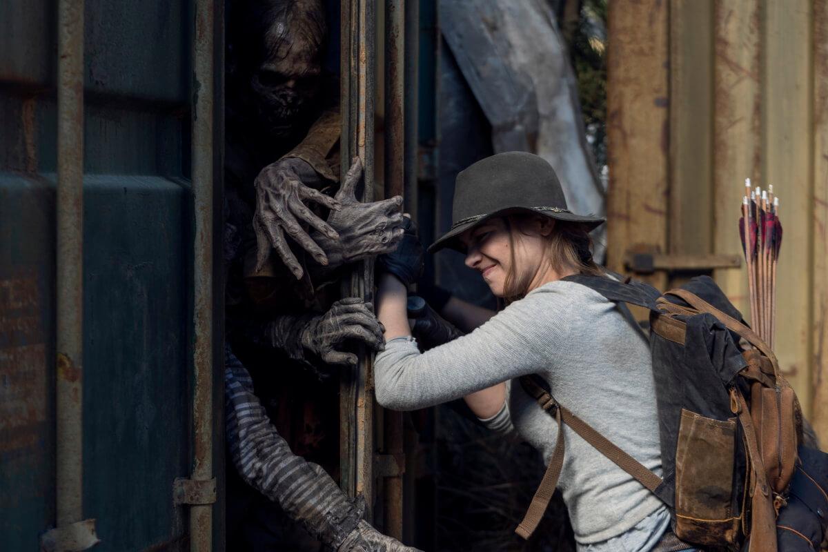 Lauren Cohan stars as Maggie Rhee, as seen in Episode 17 of AMC's The Walking Dead Season 10C