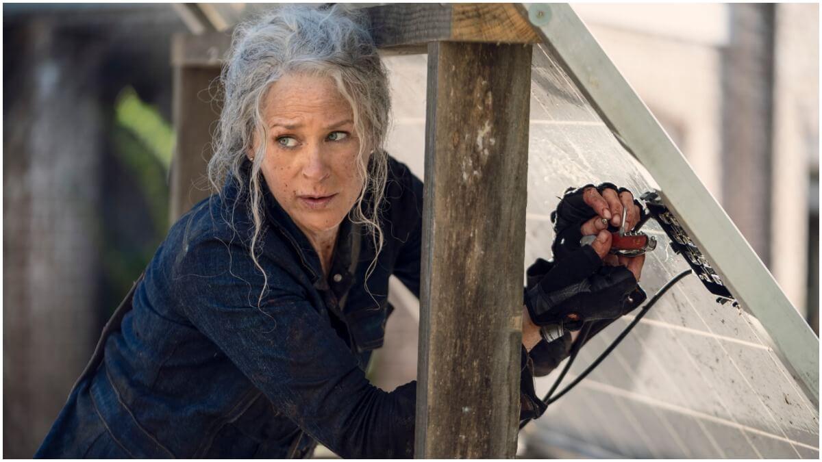 Melissa McBride stars as Carol Peletier in Season 10C of AMC's The Walking Dead