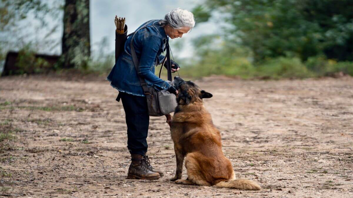 Carol and Dog feature in Season 10C of The Walking Dead