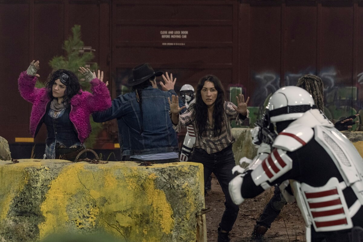 Khary Payton as Ezekiel, Josh McDermitt as Dr Eugene Porter, Paola Lazaro as Princess, as seen in Episode 16 of AMC's The Walking Dead Season 10B