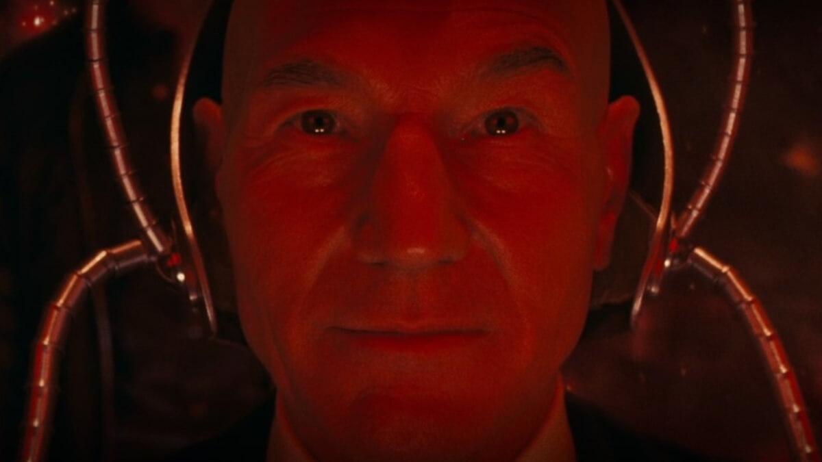 Patrick Stewart as Charles Xavier.