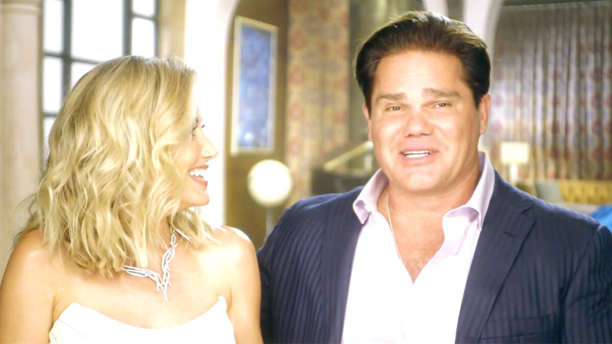 Stephanie and Travis Hollman playfully teasing each other during RHOD.