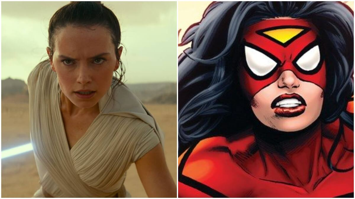 Daisy Ridley and Spider-Woman