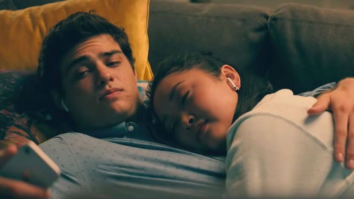 Image of Lara and Peter from the To All the Boys: Always and Forever trailer.