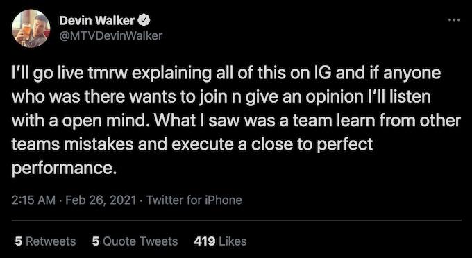 devin walker calls out tweets from lolo jones